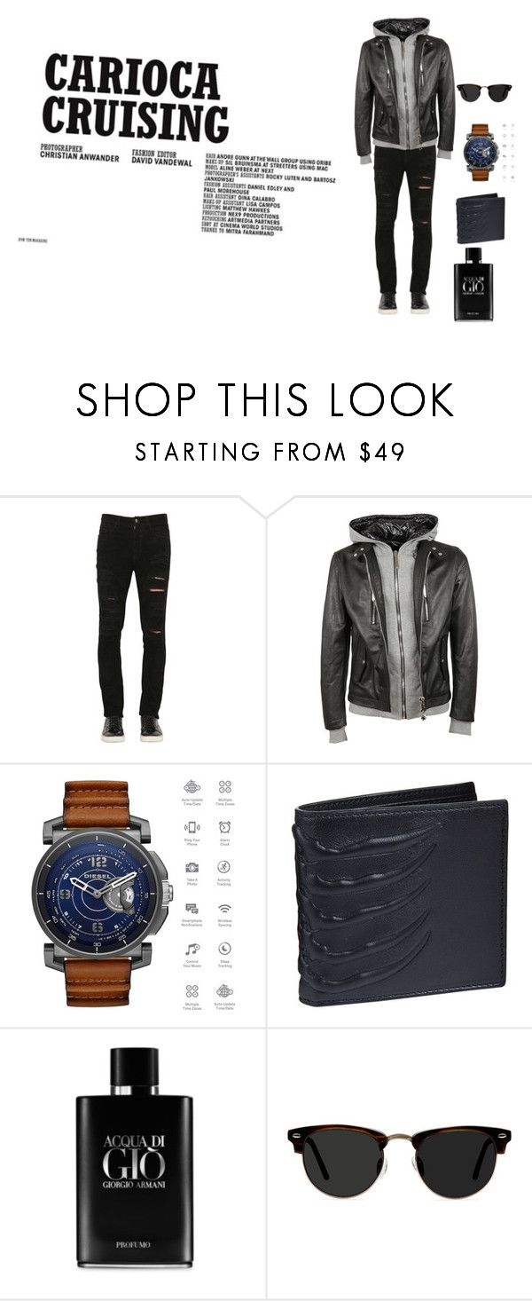 """Untitled #7"" by senad-fadina ❤ liked on Polyvore featuring Giorgio Brato, Philipp Plein, Diesel, Alexander McQueen, Giorgio Armani, Ace, men's fashion and menswear"