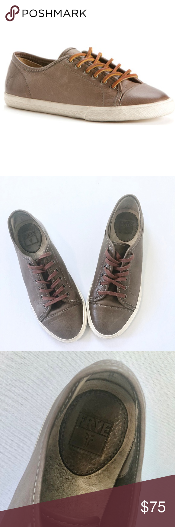 FRYE Mindy Low Lace Leather Sneaker
