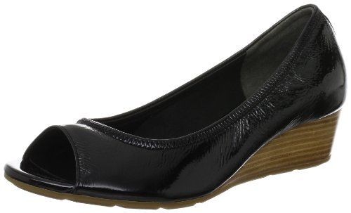 Womens Shoes Cole Haan Air Tali OT Wedge 40 Black Patent