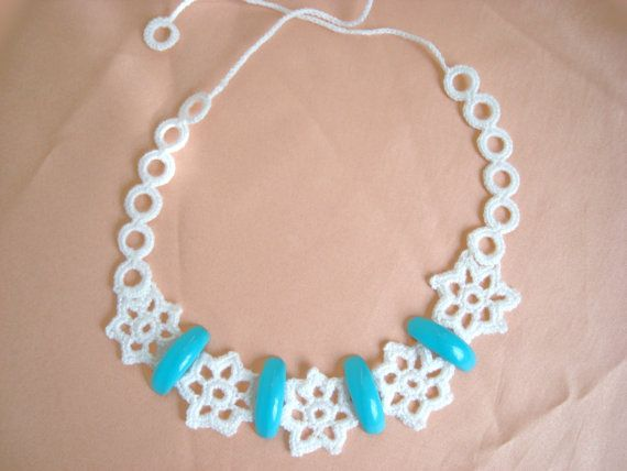 Lovely crochet necklace jewelery by vyldanstyl on Etsy, $14.00