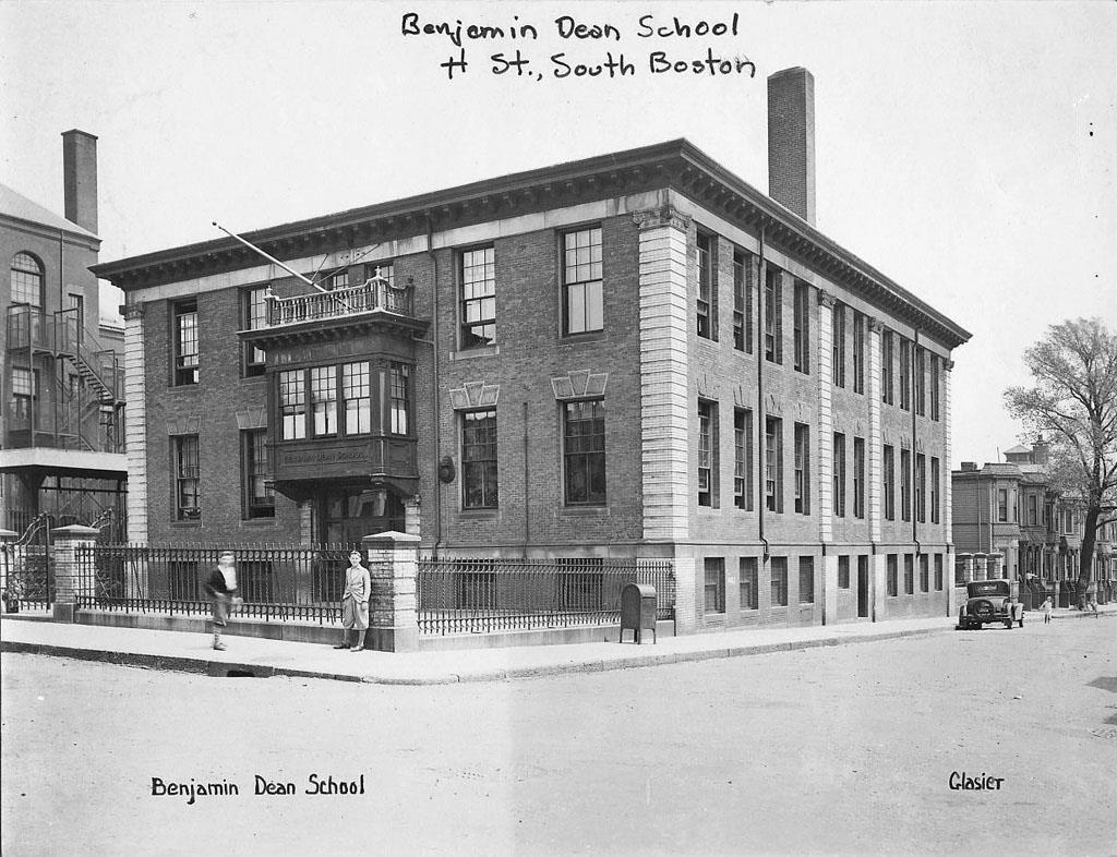 Old Photo S Boston Ma Benjamin Dean School Building Old Photos School Building Building