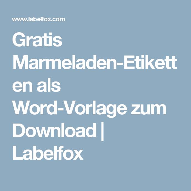 Gratis Marmeladen-Etiketten als Word-Vorlage zum Download   Labelfox ...