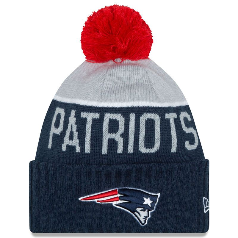 15a9dac5b73f6 ... netherlands new england patriots new era on field sport knit hat with  pom gray fb429 9682d