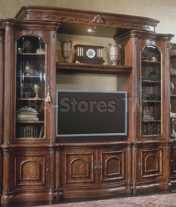 Villagio 50 Tv Entertainment Wall Unit In Hazelnut By Michael Amini Entertainment Center Tv Stands And Entertainment Centers Aico Furniture
