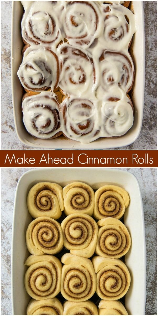 Make Ahead Cinnamon Rolls - Recipe Girl