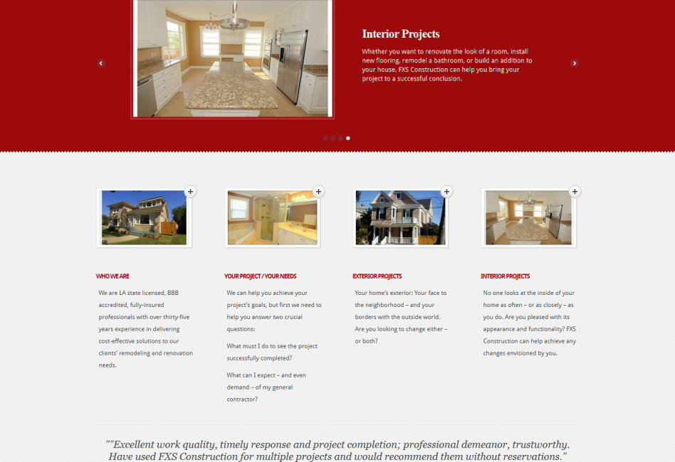 Excellent Work Quality Timely Response And Project Completion Professional Demeanor Trustworthy Have Used Fxs Co Construction Interior Projects New Orleans