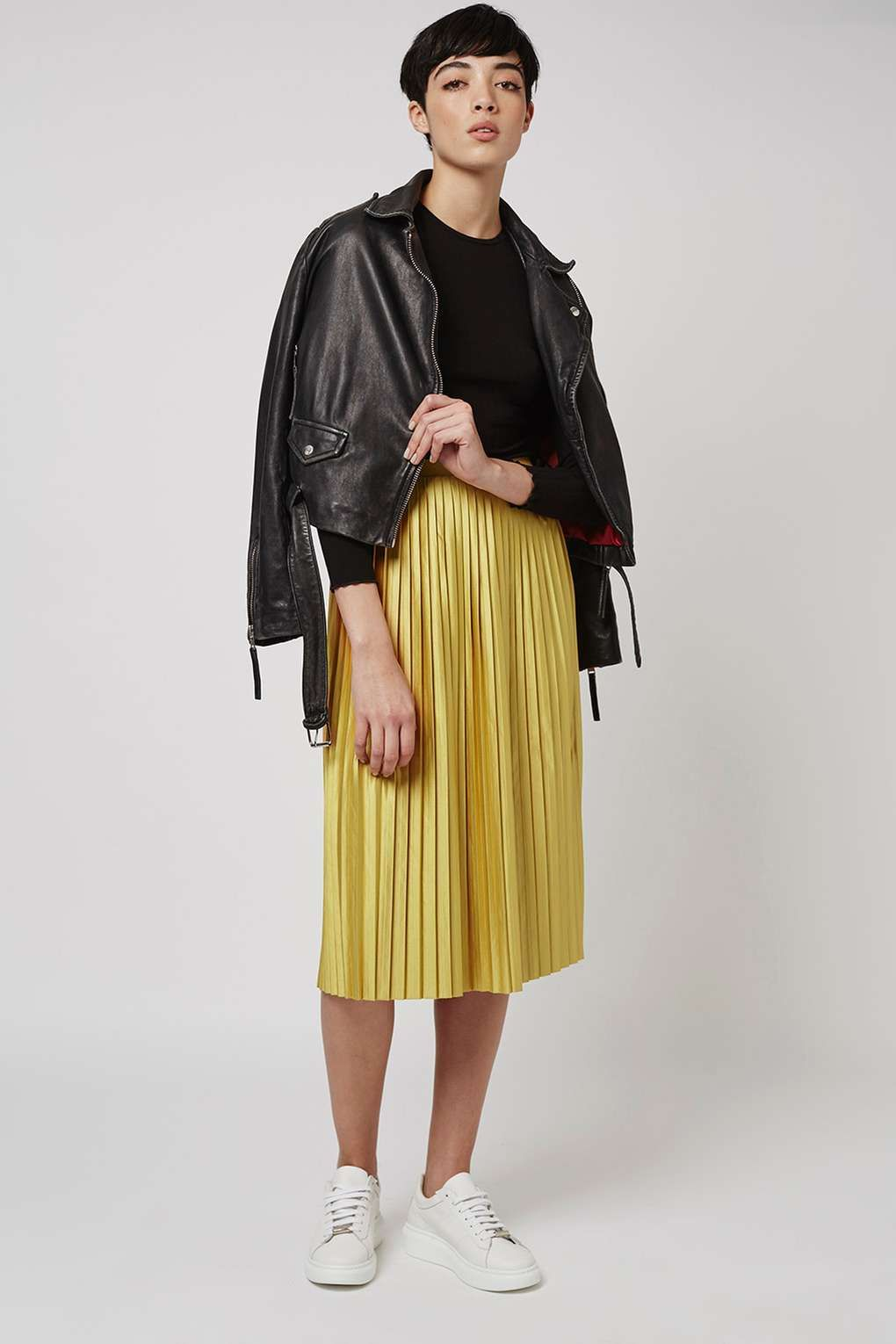 Jersey Pleated Midi Skirt | Topshop, Clothing and Midi skirts