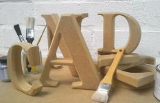 Unpainted Chunky 25mm Mdf Freestanding Letters Projects To Try