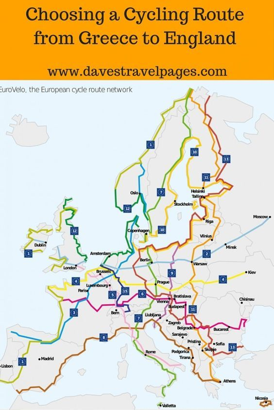 Choosing A Cycling Route From Greece To England Cycling Route Travel Tours Cycling Trips