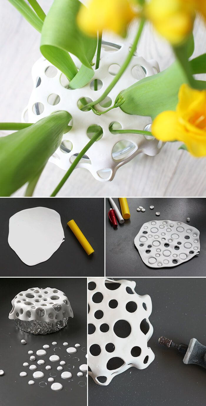 Vasenaufsatz aus Fimo - HANDMADE Kultur