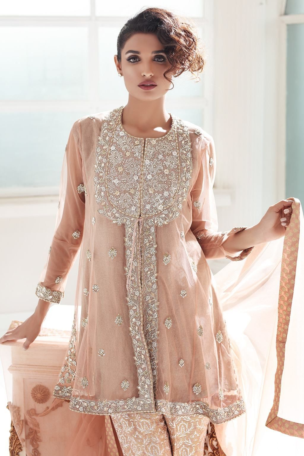 924e2f07c0 Check the new Pakistani net frocks and gowns with price. Get designer party  dress in affordable prices from collection of net frocks