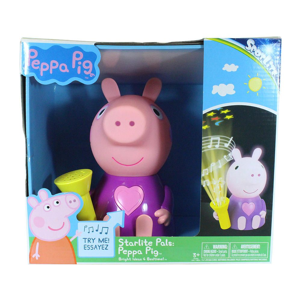 Star Lite Pals Peppa Pig Glowing Musical Night Light That Projects A Starry Night Show On The Ceiling And Sings Musical Night Light Peppa Pig Toys Peppa Pig [ 1000 x 1000 Pixel ]