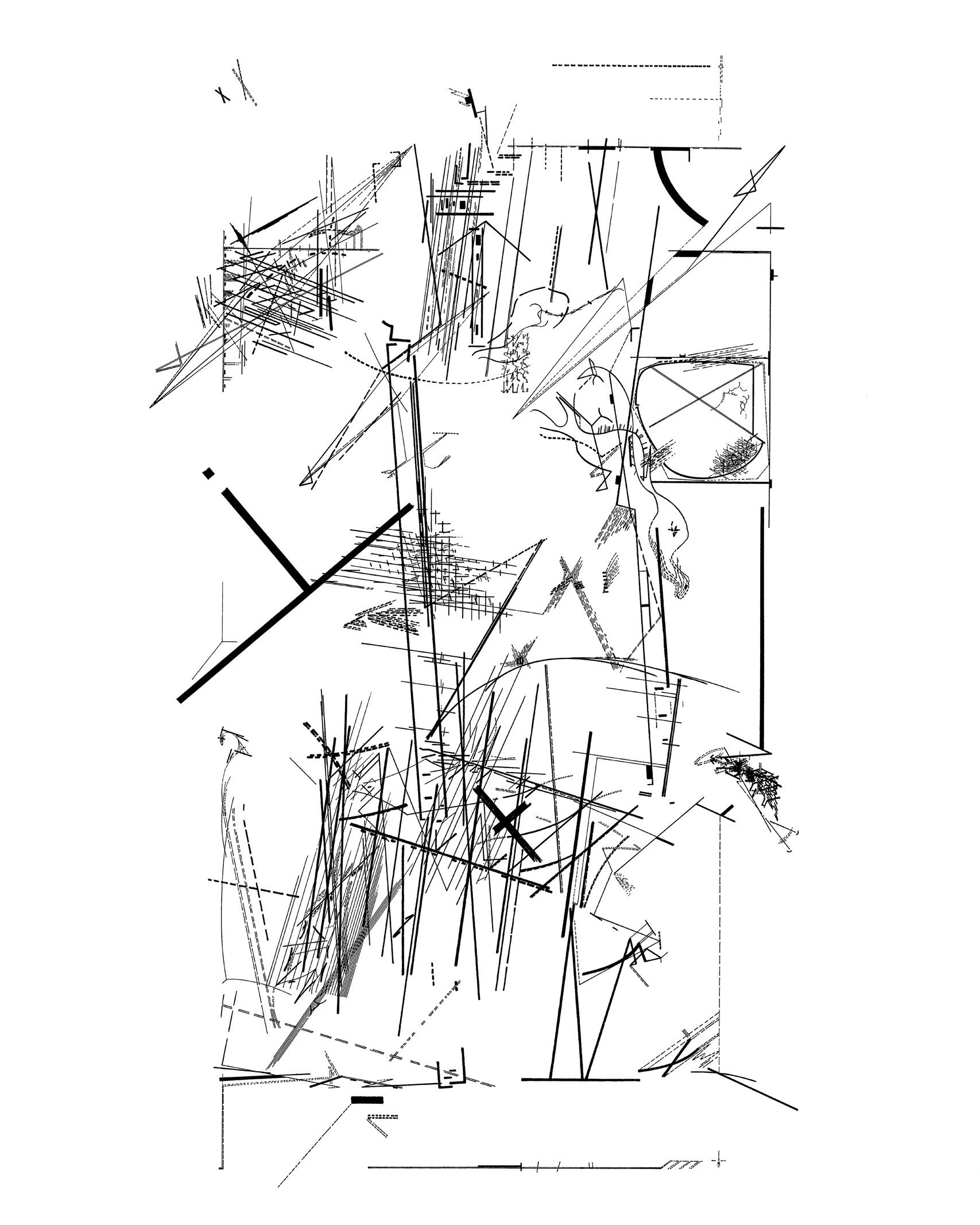 Chamber Works By Daniel Libeskind Drawing Method Training
