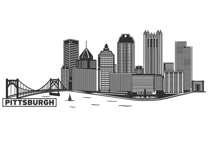 Free download of Pittsburgh Skyline Outline vector ...