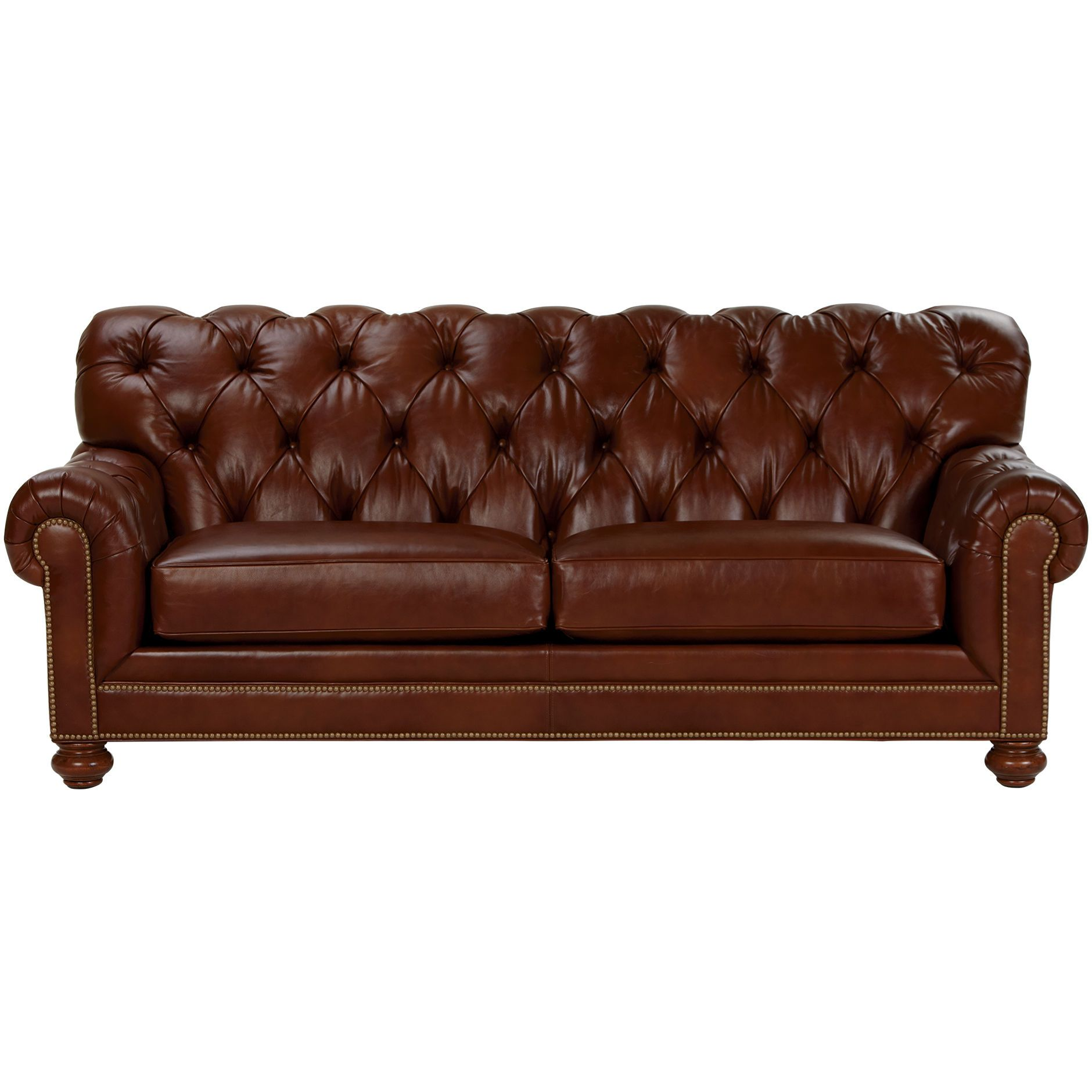 Chadwick Leather Sofa Old English Saddle Ethan Allen US