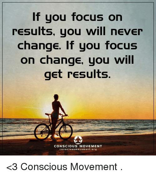 Memes Focus And Change If You Focus On Results You Will Never Law Of Attraction Memes Never Change