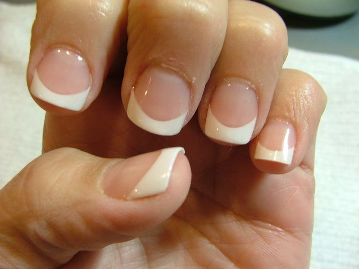 Clic French With Tips And Gel Overlay