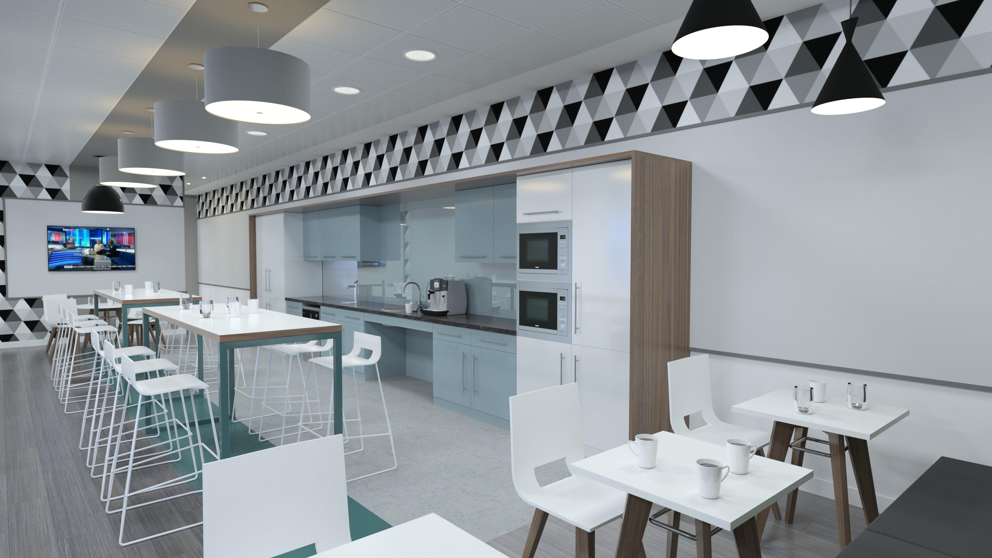 3D Studio Max Visual - Café / Teapoint / Breakout / Canteen ...