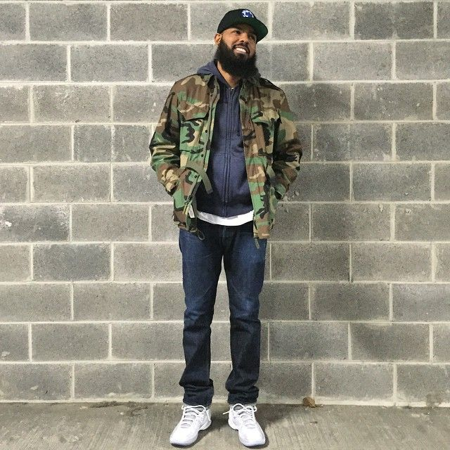 purchase cheap fd3b6 01ef1 Stalley wearing Jordan Melo M11 All-Star