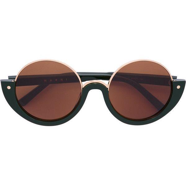 oversized round sunglasses - Brown Marni Eyewear mRBIM2w