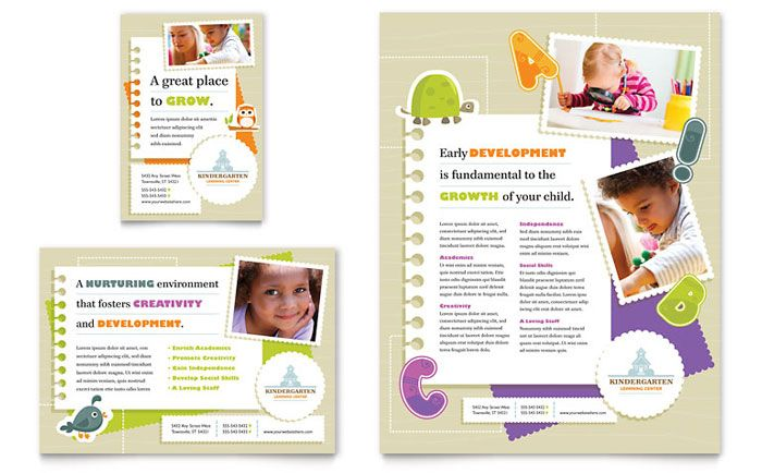Kindergarten Advertisement Design school activities Pinterest - advertisement brochure