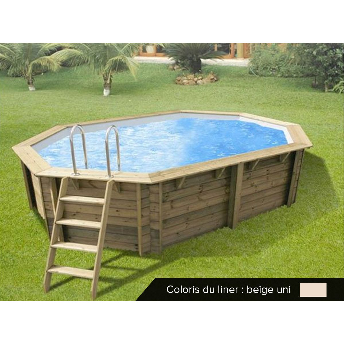 Piscine Bois Sunwater 4 90 X 3 00 X 1 20 Ubbink Outdoor Furniture Sets Outdoor Decor Pool Decks