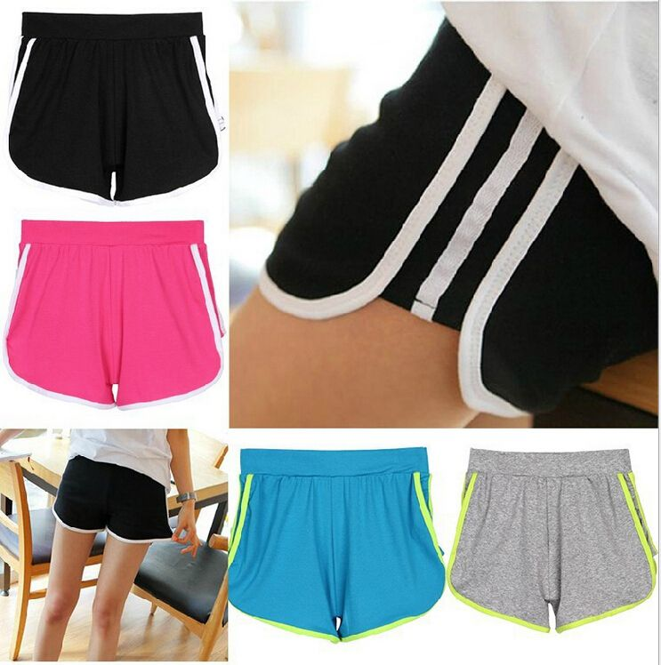 Free Shipping 2014 New Fashion Casual Regular Elastic Striped Mid Waisted Cotton Sport Fitness Gym Shorts Slim For Women Female - http://www.freshinstyle.com/products/free-shipping-2014-new-fashion-casual-regular-elastic-striped-mid-waisted-cotton-sport-fitness-gym-shorts-slim-for-women-female/