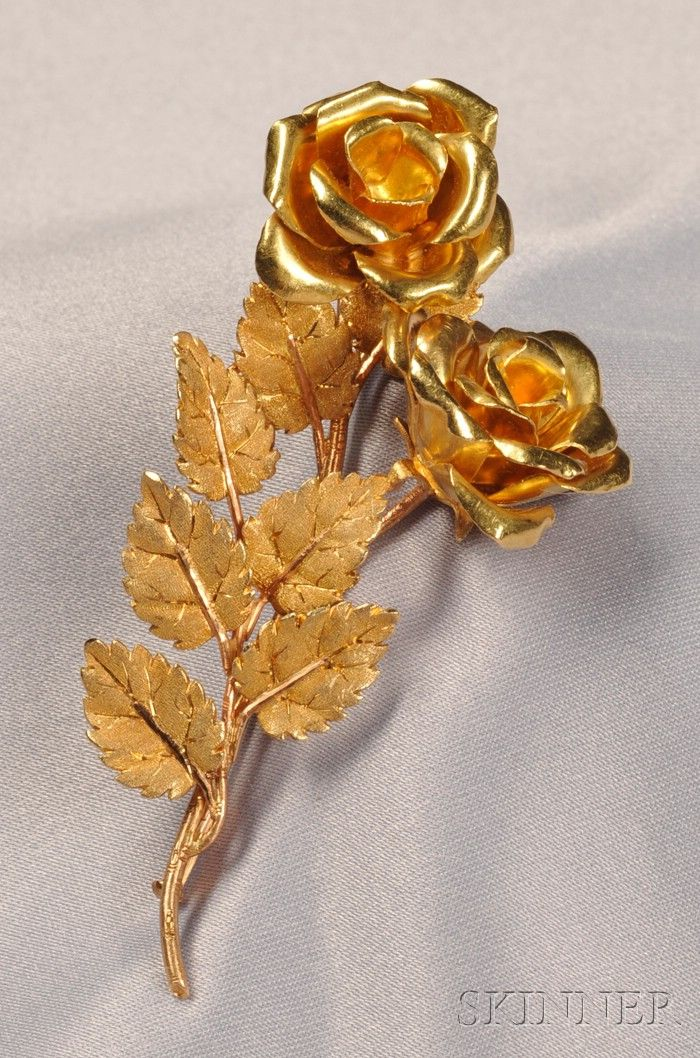 Fabulous Vintage Earrings Handmade Pink Rosebud Flower with Gold Antique Tassel
