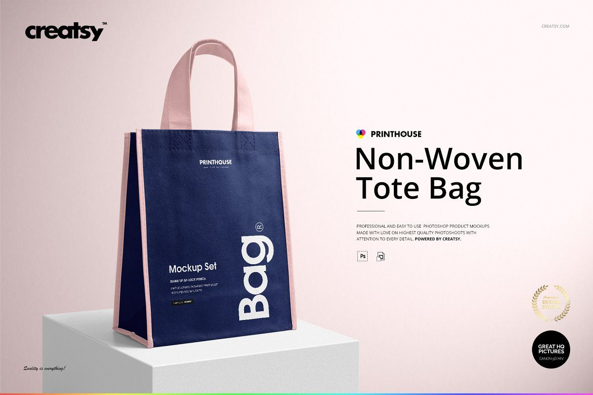 Download Non Woven Tote Bag Mockup Set Woven Tote Bag Bag Mockup Non Woven Bags
