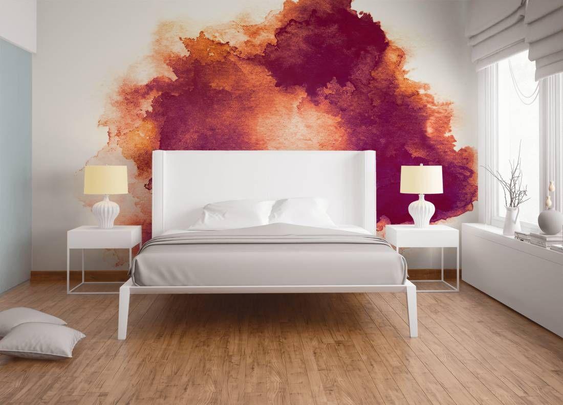Schlafzimmer Fototapete ~ Tapeten im schlafzimmer fototapete «aquarellfleck dd