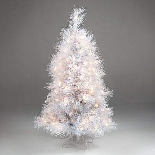 White Feather Cashmere Pine Christmas Tree | Winter Holidays ...