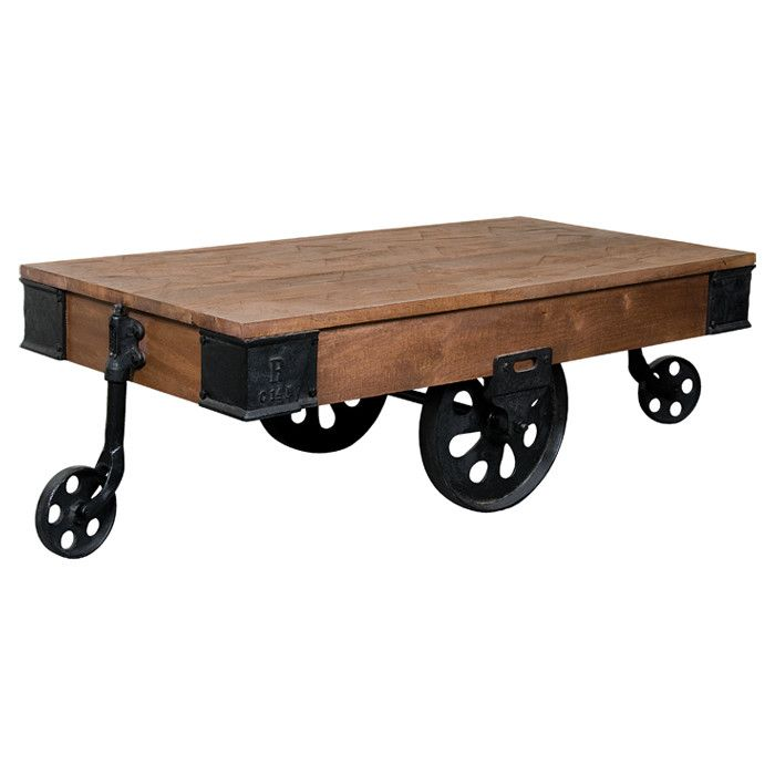 Rail Cart Coffee Table Cozy Amp Country On Joss Amp Main