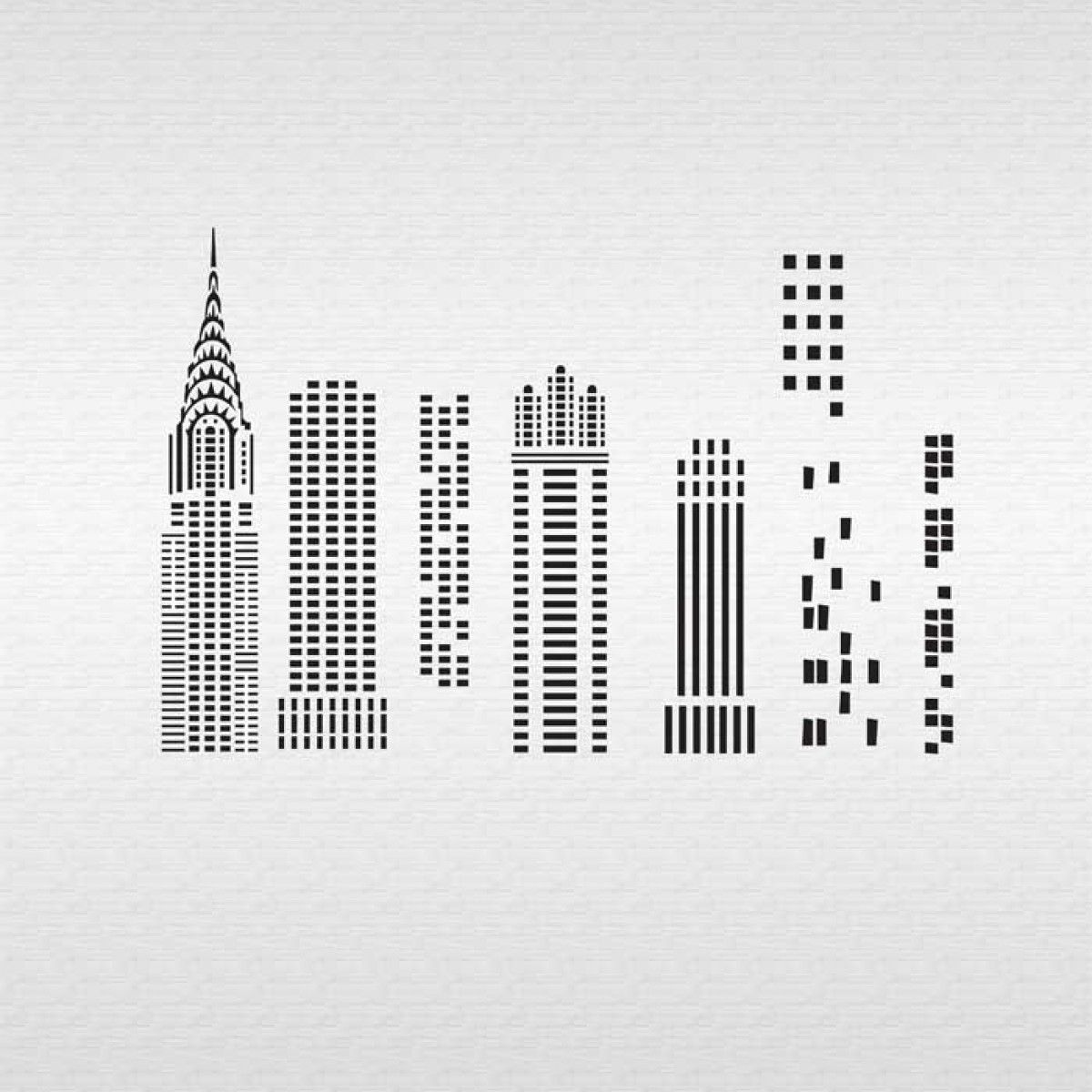 Skyscraper Windows Stencil | Templates | Pinterest | Skyscrapers ...