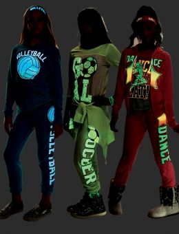 Neon Sports Jacket   Justice (Clearance $16.99) glows in the dark