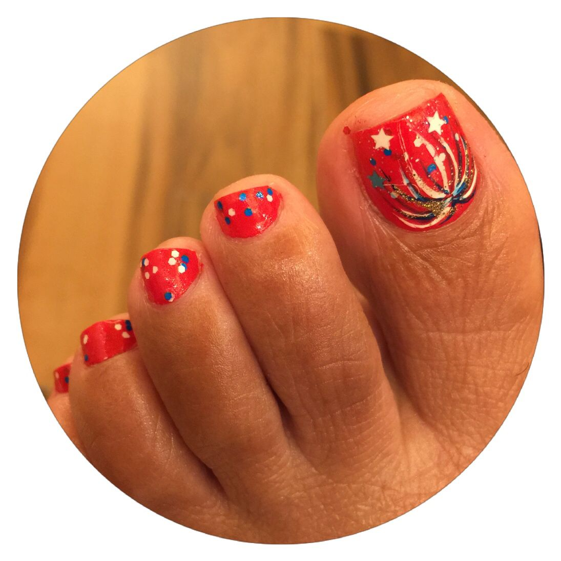 Nail Studio By Tom 4th of July Toes Nail Art By Tom Long ...
