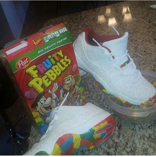 on sale 54be3 ef677 Fruity pebbles Jordan 11's | shoes in 2019 | Shoes, Sock ...