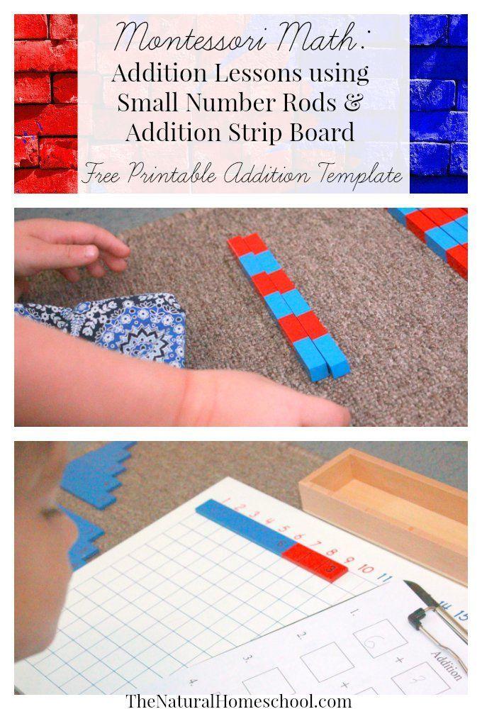 Montessori Math Lessons for Addition {Free Printables | Erstes ...