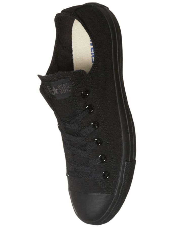 All Black Converse Chuck Taylor All Star Shoe - Wantering- These are appropriate shoes for the backstage crew to wear.