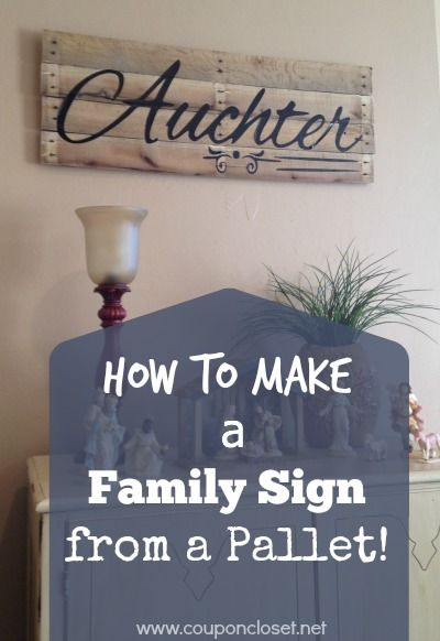 How to Make a Family Name Sign from a Pallet | Signs, Great gifts ...