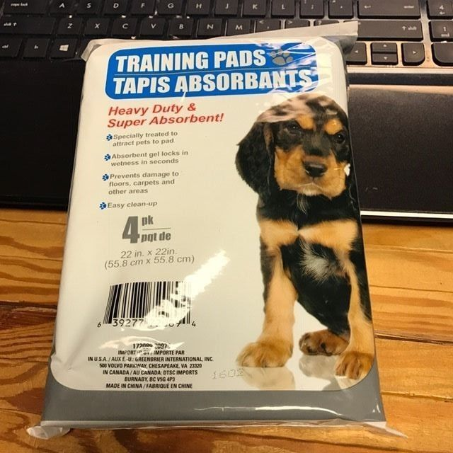 Pet Dog Pee Pads 22x22 Inches Training Pads For Puppy Housebreaking 4 Count Pack Dog Pee Pads Dog Pee Puppy Pads Training