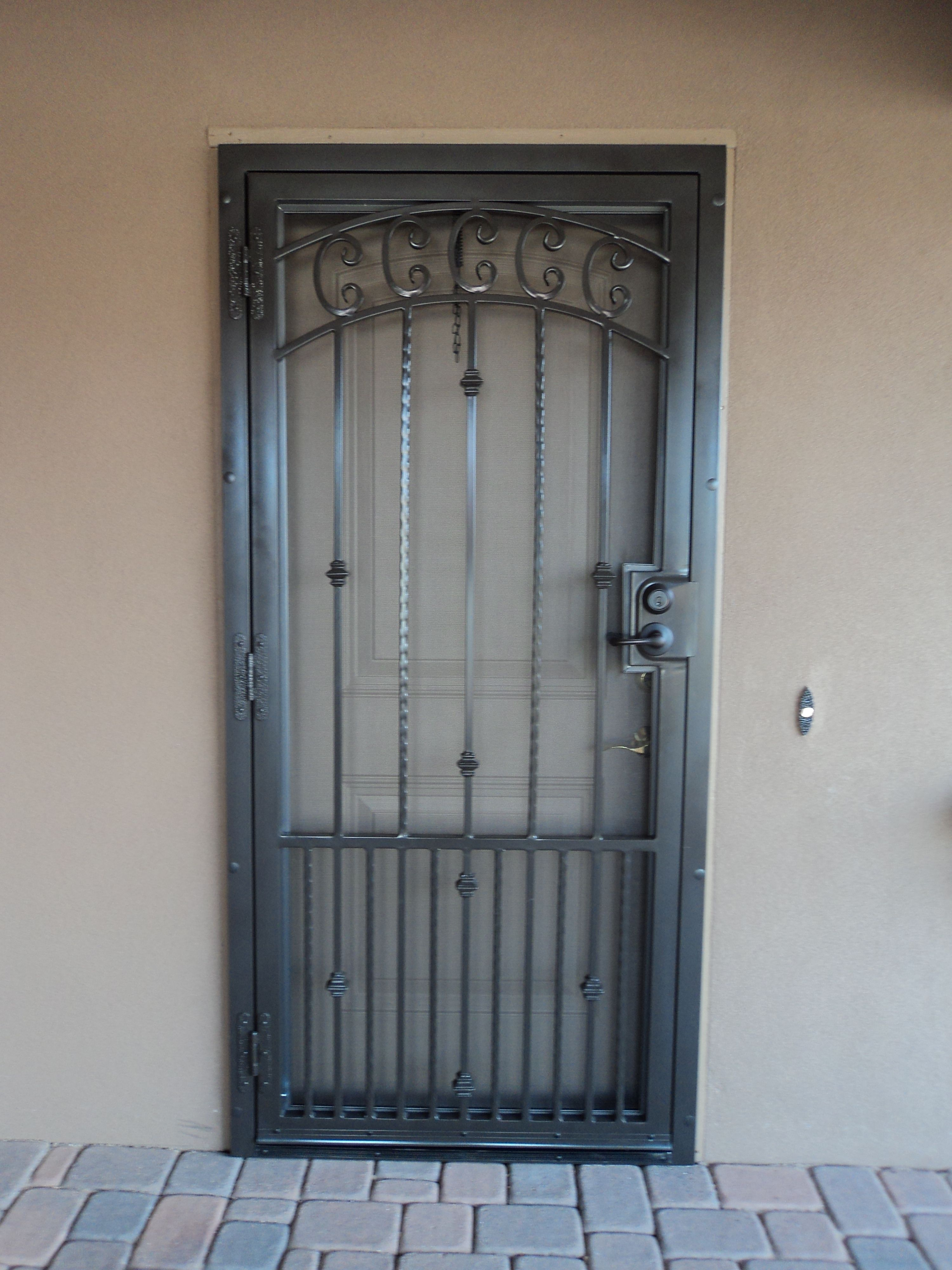 Security entrance gate glazed decorative security entrance doors - Installation Of New Security Screen Doors Of The Highest Quality From Dcs Industries For Decorative Security Screen Door Needs In The Phoenix Area
