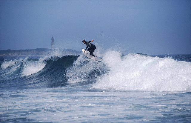 """""""Riding the Crest."""" Surfing Massachusetts (Long Beach in Rockport)"""