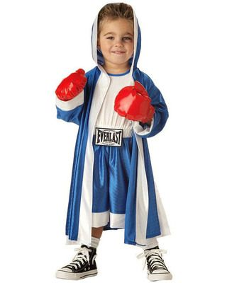 """This cute costume will be a total knockout this #Halloween! He'll be able to last through several """"rounds"""" of trick-or-treating in this comfortable outfit. Click above to buy it!"""
