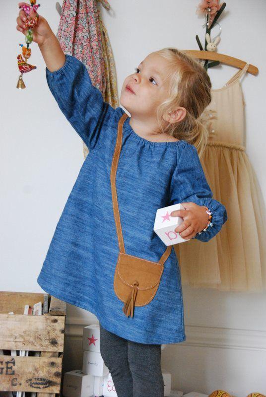 denim satchel dress <3