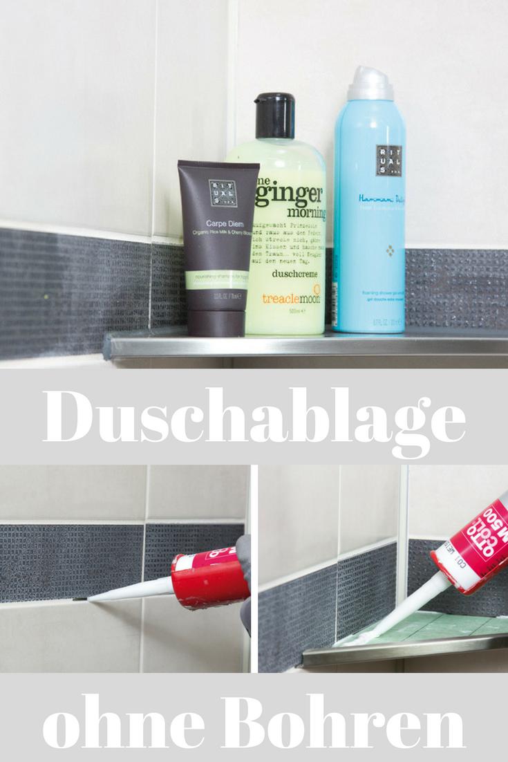 Leider muss man für viele Duschablagen die Fliesen anbohren – das ...