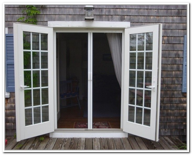 Out Swing French Doors With Screen