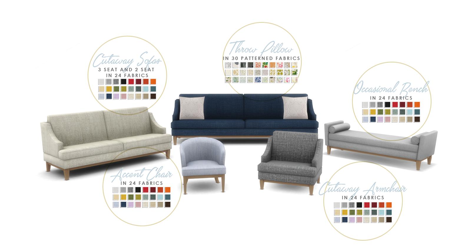 Simsational Designs: Hamptons Hideaway - Living Room Set for TS4 ...