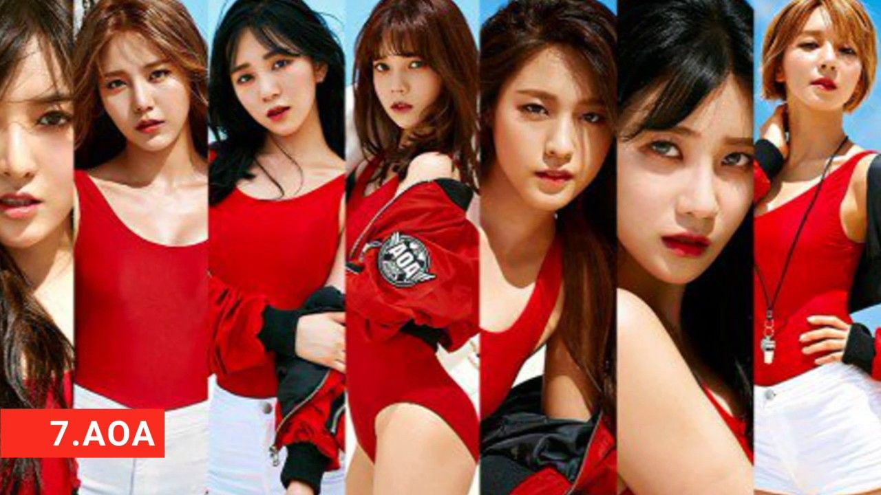 Top 10 Kpop Idol Girl Group 2017 Tiwce Aoa Girl S Generation Kpop Girls Fnc Entertainment Aoa