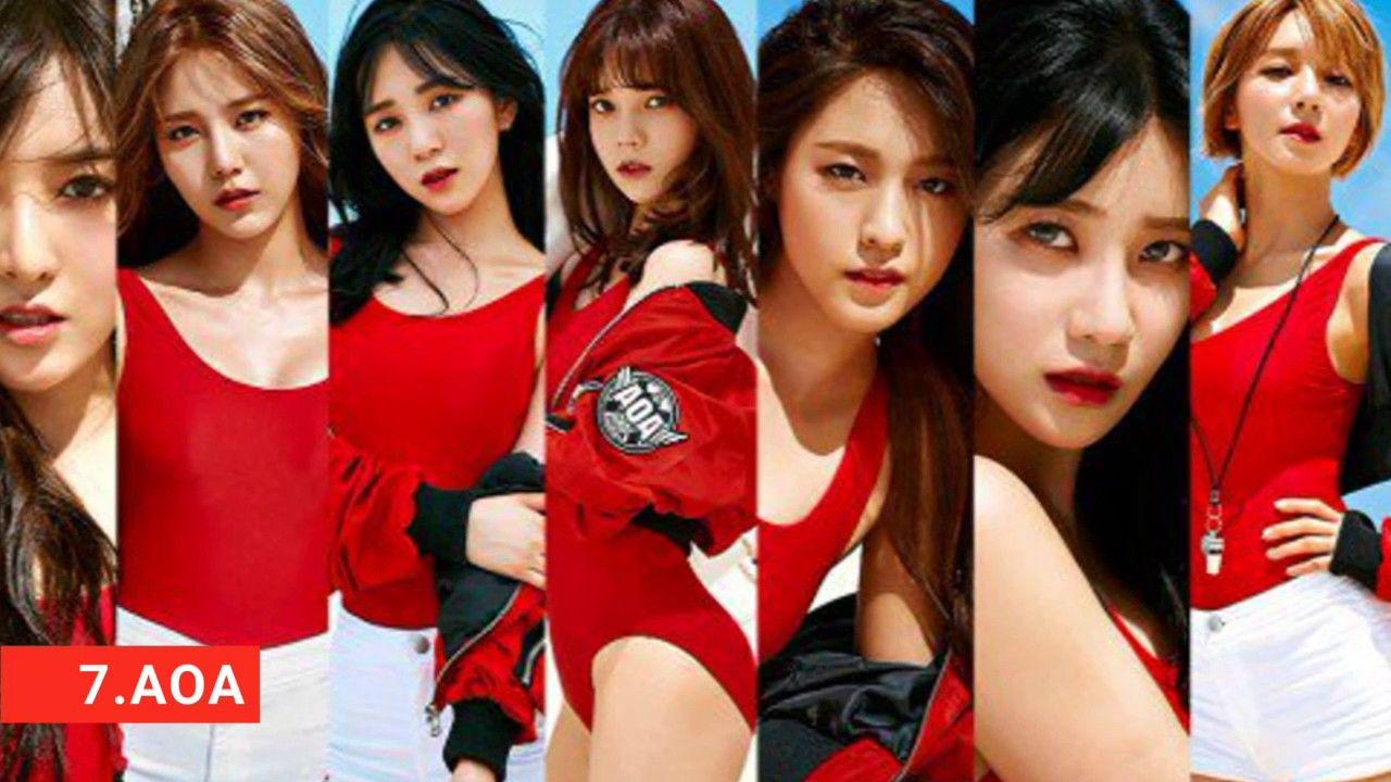 Top 10 Kpop Idol Girl Group 2017 Tiwce Aoa Girl S Generation Kpop Girls Fnc Entertainment Aoa