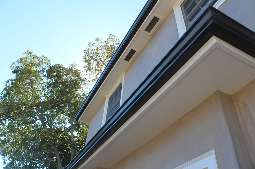 Photo Of A Plus Gutter Systems Los Angeles Ca United States 5 Inch K Style Rain Gutters Rain Gutters Remodel Gutter